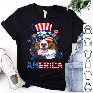 America Bernese Mountain Dog 4th of July Usa Flag shirt
