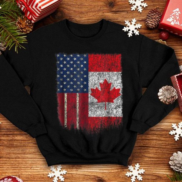 American Canadian Us Canada Flag Friend Thanks Canada shirt