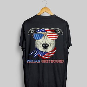 American Flag Italian Greyhound Dog Lover shirt