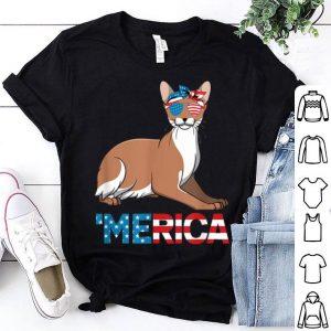American Flag Javanese Cat 4th Of July Cat shirt