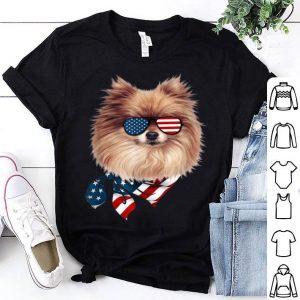 American Flag Pomeranian Patriotic 4th Of July Shirt