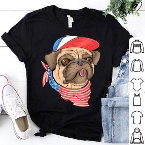 American flag pitbull dogs shirt
