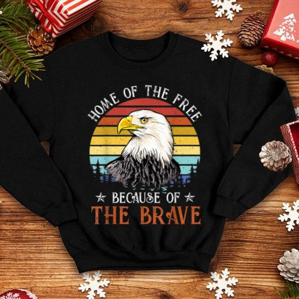 Bald Eagle 4th Of July Home Of The Free America Independence Day shirt