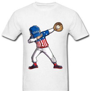 Baseball Dabbing Usa Merica 4th Of July Dab Dance Shirt
