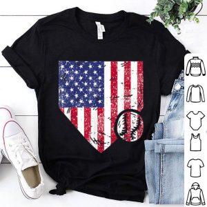 Baseball Patriotic American Flag 4th Of July shirt
