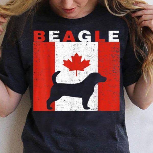 Beagle Beagle Canadian Flag 1st July Shirt