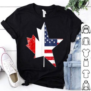 Canada - Canadian Usa Flag Maple Leafs Shirt