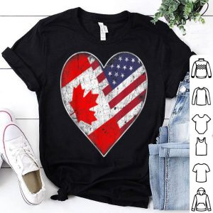 Canadian American Flag - Vintage Canada USA Tee shirt