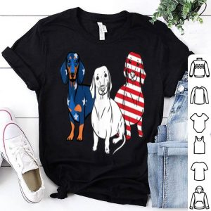 Dachshund america flag dog lover independence day shirt