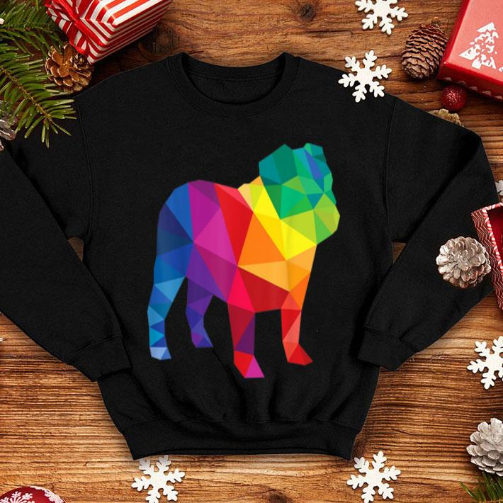 4f6881fa English Bulldog Gay Pride LGBT Rainbow Flag LGBTQ Shirt, hoodie ...