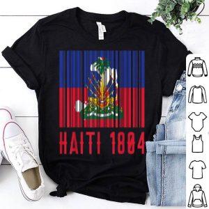 Haitian Haiti 1804 Barcode Flag shirt