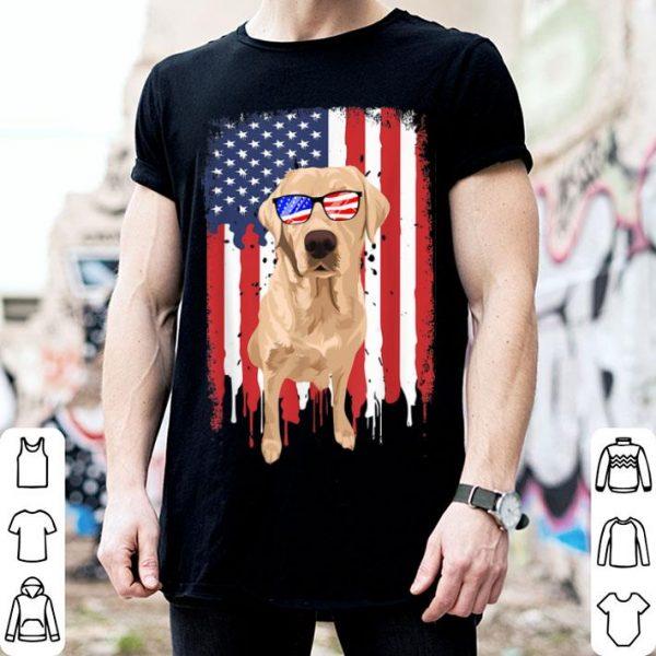 Labrador Retriever Independence Day 4th July USA Flag shirt