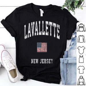 Lavallette New Jersey Nj Vintage American Flagports shirt