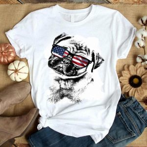 Pug Dogs 4th Of July Patriotic Shirt