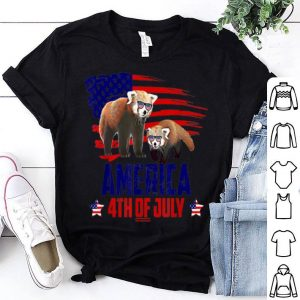 Red Panda Patriotic American America 4th Of July shirt
