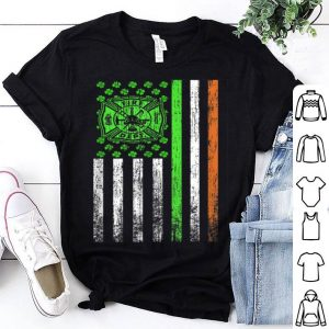 St Patrick Day Firefighter Irish American Flag shirt
