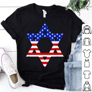 Star of David American Flag Proud Jewish Israel Men Women shirt