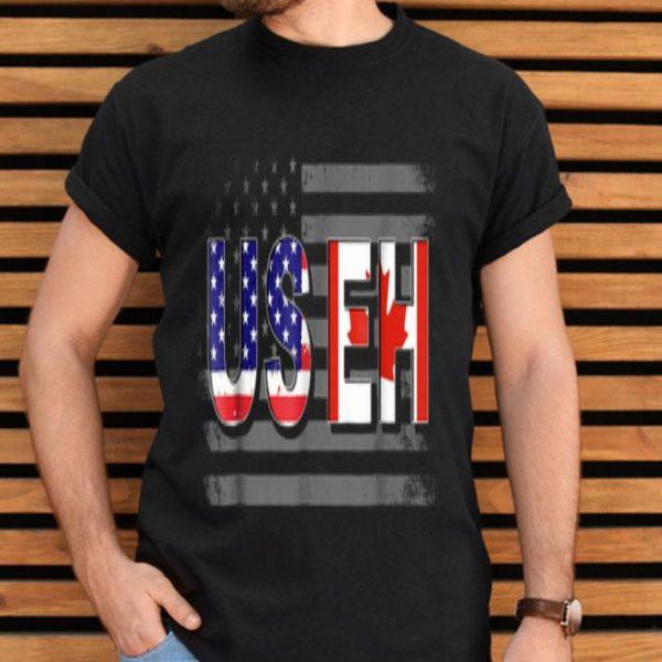 Useh American Canada Flag Maple Leaf July 4th shirt