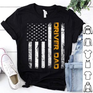 Vintage USA Driver Dad American Flag Father's Day shirt