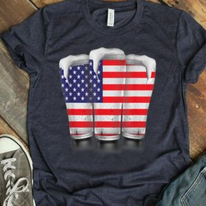 4th Of July Beer Red White Blue Stripes Stars shirt