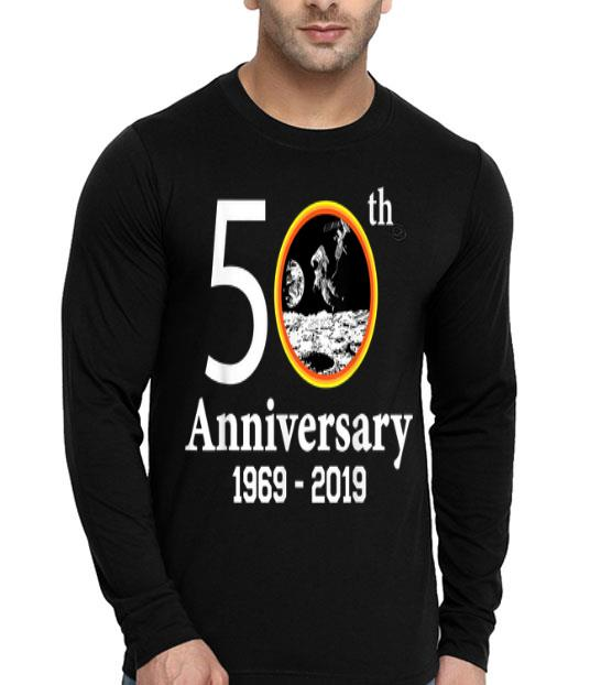 50th Anniversary 1969-2019 Apollo Space Patch First Step On The Moon shirt