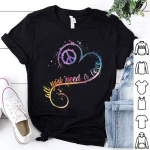 All You Need Is Love Heart Shape Watercolor shirt