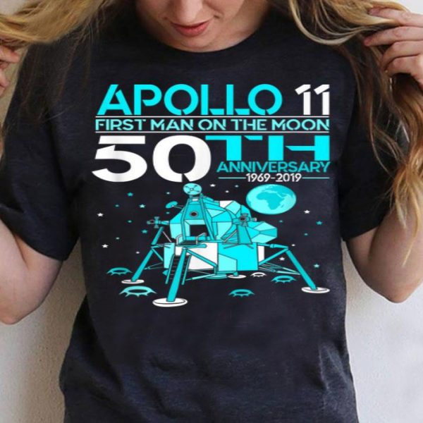 Apollo 11 First Man on the Moon Landing 50th Year shirt