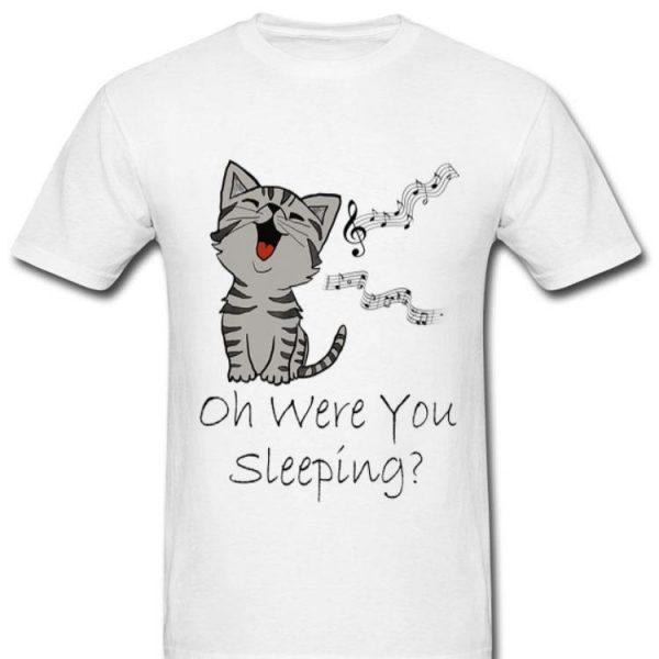 Cat Up All Night Gray Tabby Cat Music Lover Premium shirt
