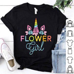 Cute Wedding Flower Girl Unicorn Bridesmaids shirt