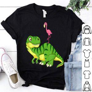 Flamingo T-rex Dinosaur shirt