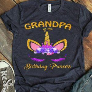 Grandpa Of The Birthday Princess Unicorn Girl Outfit shirt