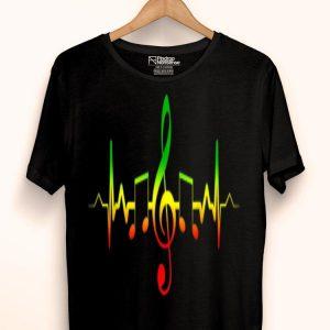 Reggae Music Lover Heartbeat - Jamaica Rasta shirt