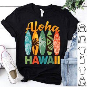 Retro Hawaiian Surfboard Aloha Hawaii Island Surfer shirt