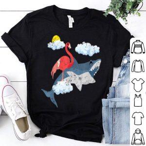 Shark Flamingo Distressed For Shark Lovers shirt