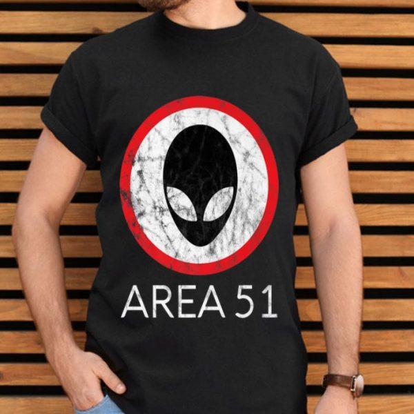 Storm Area 51 Retro UFO Alien Extraterrestrial Cant Stop Us Premium shirt