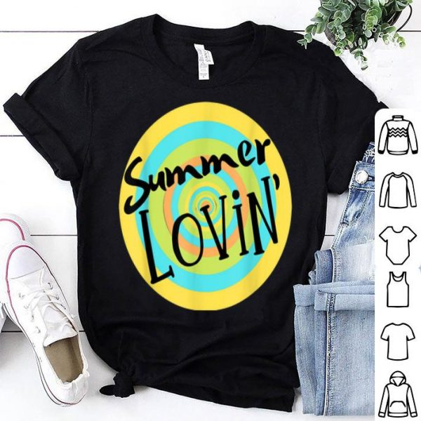 Summer Lovin' Beach Vibes Men Women Youth Rainbow Circle Fun shirt