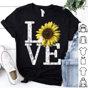 Sunflower Love Vintage Hippie Flower Nurse Mom shirt