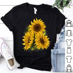 Yellow Sunflower Floral Watercolor Positivity shirt
