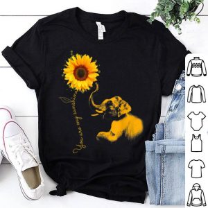 You Are My Sunshine Sunflower Elephant shirt