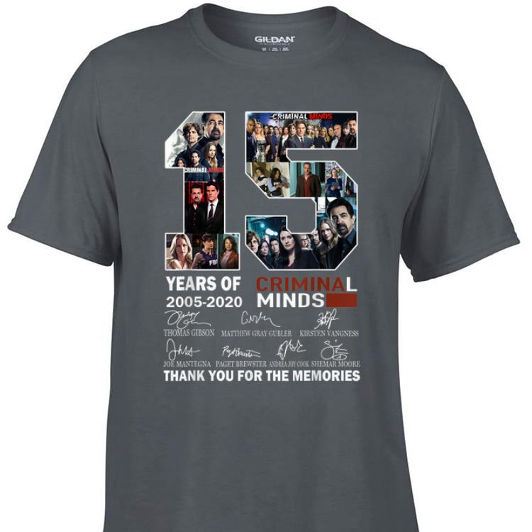 15 Years Of Criminal Minds Thank You For The Memories Signature shirt 1 - 15 Years Of Criminal Minds Thank You For The Memories Signature shirt
