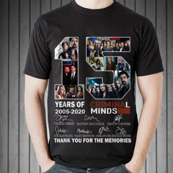 15 Years Of Criminal Minds Thank You For The Memories Signature shirt