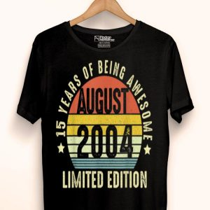 15th Birthday Limited Edition Retro August 2004 shirt
