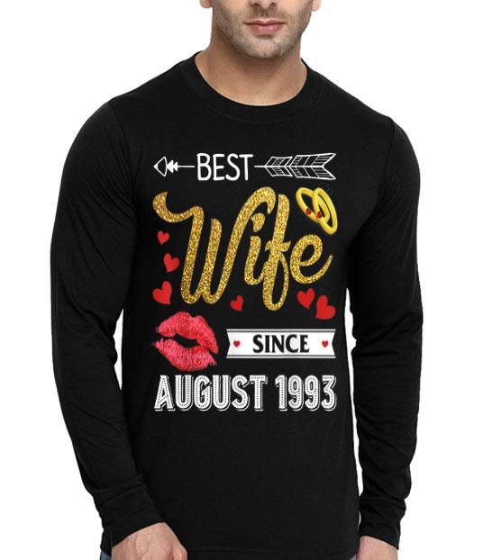 26th Wedding Anniversary Best Wife Since August 1993 shirt