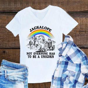 Aweome Jackalope Not Everyone Has To Be A Unicorn Camping Rainbow shirt