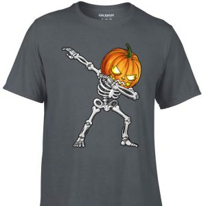 Awesome Dabbing Skeleton Pumpkin Halloween shirt