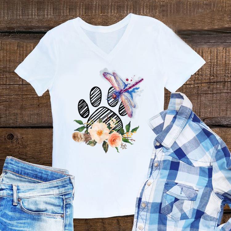 Awesome Dragonfly Paw Dog Flower shirt 1 - Awesome Dragonfly Paw Dog Flower shirt