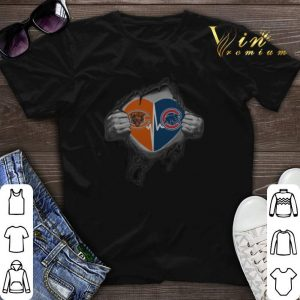 Chicago Cubs Chicago Bears inside my heart shirt