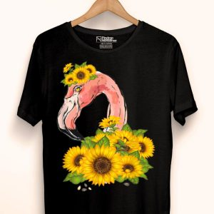Flamingo And Sunflowers shirt