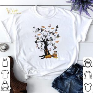Halloween Mickey Mouse pumpkin boo ghost tree shirt