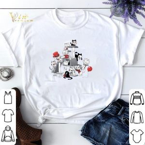 Halloween Park Cats Scariest Horror Movie Characters shirt